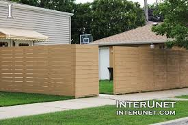 white horizontal wood fence. Horizontal-wood-boards-fence-on-wooden-posts White Horizontal Wood Fence N