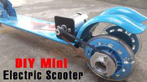 how to make a electric scooter at home using 775 motor