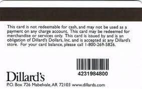 gift card dillard s dollars dillard s