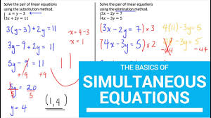 simultaneous linear equations elimination and substitution method