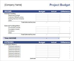 Sample Budget Proposal Enchanting Project Budget Worksheet Template Walach