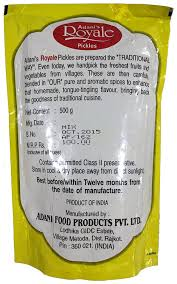 Adani Mixed Pickle Pouch Packing 500 g: Amazon.in: Grocery ...