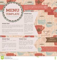 Tea Room Menu Template Stock Vector Illustration Of Cafe