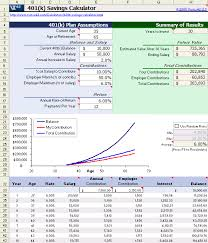 401k Calculator For Excel Accounting 401k Calculator