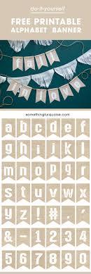 free printable burlap alphabet banner make it say wver you want