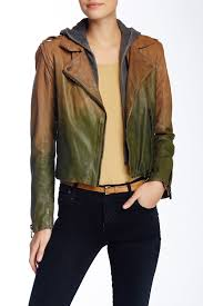 image of doma faded leather jacket