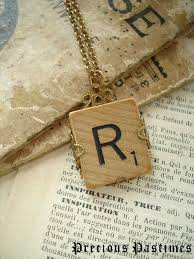 Suggestion Letter Best SCRABBLE Letter Necklace Letter R Necklace Rustic Charm Necklace