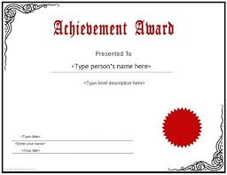 Printable Achievement Certificates Printable Award Certificate Template Achievement Free Awards