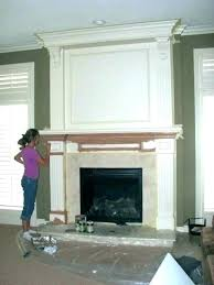 brick fireplace remodel cover up ideas painting stone with how to a wood burner