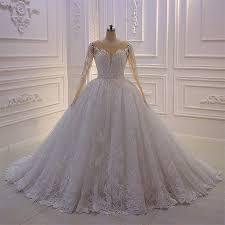 New Ball Gown Design New Design Lace Ball Gown Long Sleeve Wedding Dress Amanda Noivas Bridal Gown 2019 Buy Amanda Novias Wedding Dresses Wedding Dress 2019 Ball Gown