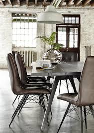 looking for the perfect dining chair you ve found it with our stylish and versatile hix chair featuring angled metal legs and a cushioned leather effect