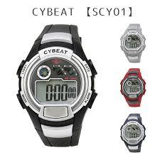 cybeat rhinoceros beat 5 standard atmosphere waterproofing el backlight digital watch watch fashion cool gentleman man men present present gift watch sun