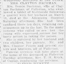 Mrs. Clayton S. Bachman (nee Bessie Peters), obit. - Newspapers.com