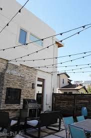 outdoor style how to hang commercial grade string lights patio string lights how to hang and string lights