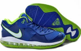 lebron 8. nike lebron 8 v/2 low sprite 456849-401 blue/green size 11 lebron