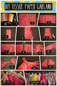diy tissue paper tassel garland tutorial