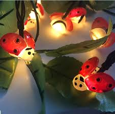 Ladybug Garden Lights Us 5 99 30 Off Mycyk Summers New Seven Star Ladybug Beetle Battery Case Led Light String Christmas Decoration Lights Baby Room Decoration Cute In