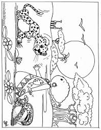 Kid And Leopard Coloring Pages