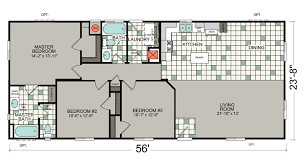 silvercrest mobile home floor plan 3 bed 2 bath
