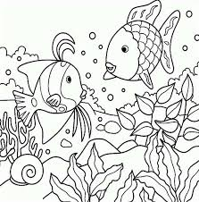 Small Picture Free Rainbow Fish Sea Animals Coloring Page Download Print