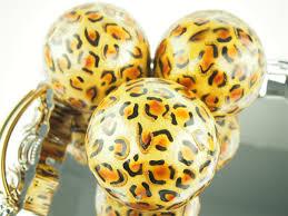 Leopard Decorative Balls 100 Capiz Large Decorative Balls Orbs Spheres African Safari 2