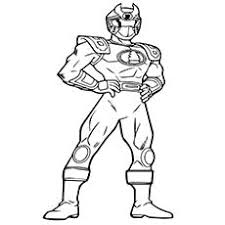 free power rangers jungle fury coloring page