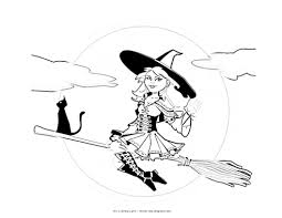 Small Picture Nice Witch Coloring Sheet 63 1805