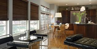 wood blinds and faux wood blinds match any decor and style with color choices and stains that are anything but ordinary ranging from many shades of white