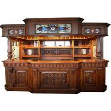 at home bar furniture. Irish Fitzpatrick Solid Mahogany Tavern Home Pub Ireland Bar With Tiffany Glass Canopy At Furniture