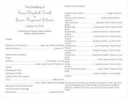 Wedding Ceremony Program Template Free Download Wedding Party Program Template Printable Wedding Ceremony Program