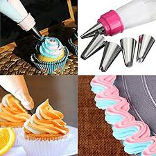 5Pcs Stainless Steel Nozzles Dual Color Icing Piping ... - Amazon.com