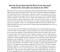 how far do you agree that the black power movement hindered the  document image preview