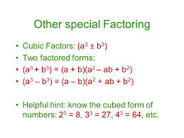 How To Factor A Cubic Factoring By Using Different Methods Ppt Video Online Download