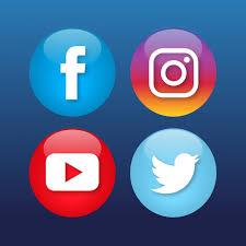 social media logos. four social media icons free vector logos n
