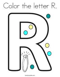 Alphabet letter r coloring page. Color The Letter R Coloring Page Twisty Noodle