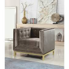 chic home evie velvet plush modern contemporary accent club chair on today overstock 18239504