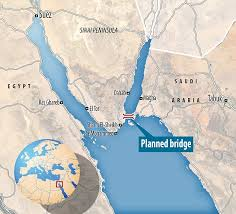 saudi arabia to build a huge 30 mile bridge across red sea to Egypt Saudi Arabia Map there has been long held suggestions of the construction of a 30 mile bridge, egypt saudi arabia relations