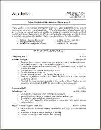 marketing and sales cv sales and marketing resume template