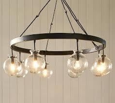 glass globe chandeliers glass globe chandelier pottery barn glass bulb chandelier modern glass globe chandeliers