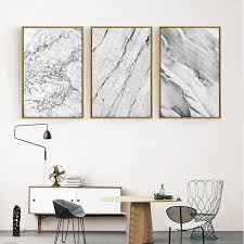 wall art office. Abstract Grey Marble Canvas Paintings Nordic Posters And Prints Pop Wall Art Pictures For Office Living