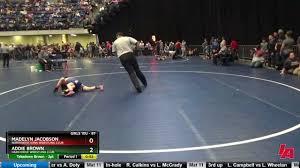 Madelyn Jacobson (NorthWest Iowa Wrestling Club) vs Addie Brown (Hard Drive  Wrestling Club)