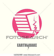 1,000+ vectors, stock photos & psd files. Vector Earthquake Insurance Icon With Damaged House Isolated On White Background Natural Disaster Sign Or Symbol Clip Art K52352489 Fotosearch