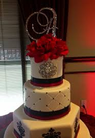 Black White With Red Sweet 15 Birthday Cake B Day Cakes Cupcakes
