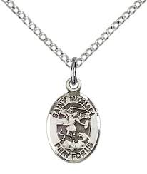 sterling silver st michael the