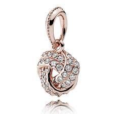 pandora love knot pendant jsp1212 in rose gold display gallery item 1
