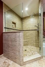 Mosaic Bathroom Floor Tile Glass Mosaic Tile Bathroom Ideas With Cream Stone Bathroom