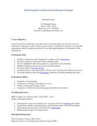 Advertising Executive Resume Sample advertising managers resume job description Roho60sensesco 2