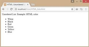Html Lists Datainflow