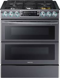 double oven gas range reviews. Interesting Oven Samsung NX58K9850SG  Black Stainless Steel 30Inch Dual Oven Slidein Gas  Range  Throughout Double Reviews S