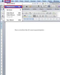 Mircosoft Word For Mac Encrypt Word Files Using Microsoft Word In Mac Os X University Of
